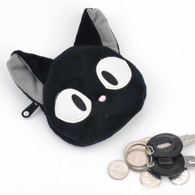 Japońskie anime Kiki dostawy usługi czarny JiJi kot karta bankowa klucz wisiorek zabawki Cartoon Kawaii pluszowa woreczek lalka LELAKAYA