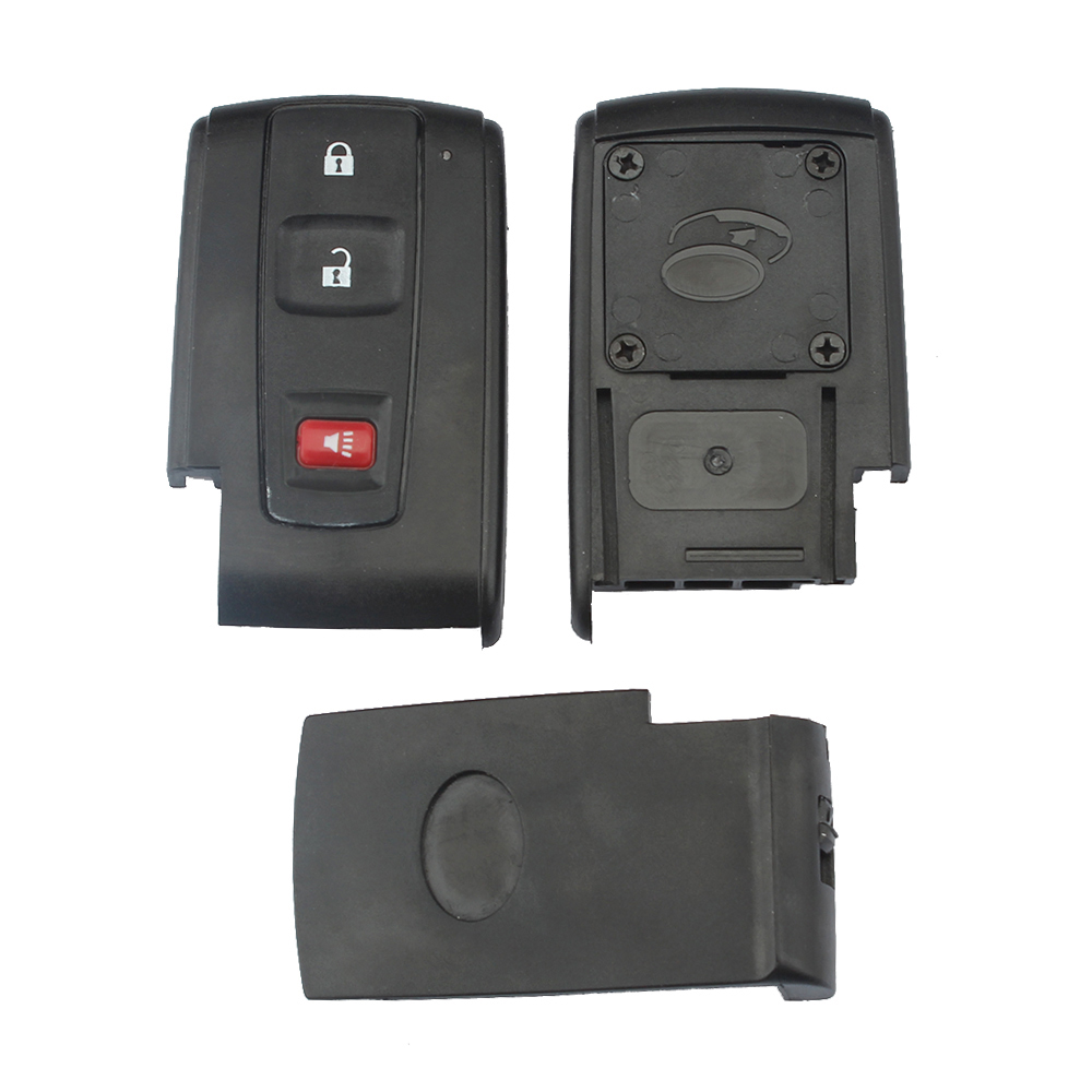 Black 2 + 1 Buttons Replacement Shell Remote Key Case Fob for 2004-2009 Toyota Prius