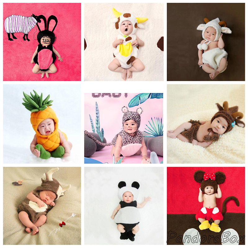 >Infant Baby Girl <font><b>Boy</b></font> Photoshoot Outfits <font><b>Toddler</b></font> Photography Props Cartoon Clothes Child <font><b>Kids</b></font> Birthday Picture Shooting Costume