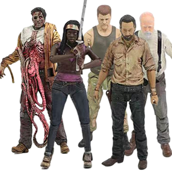 TV Series The Walking Dead Rick Grimes Daryl Dixon Governor Bungee Walker Michonne Carol Greene Toy PVC Action Figure Model Gift image