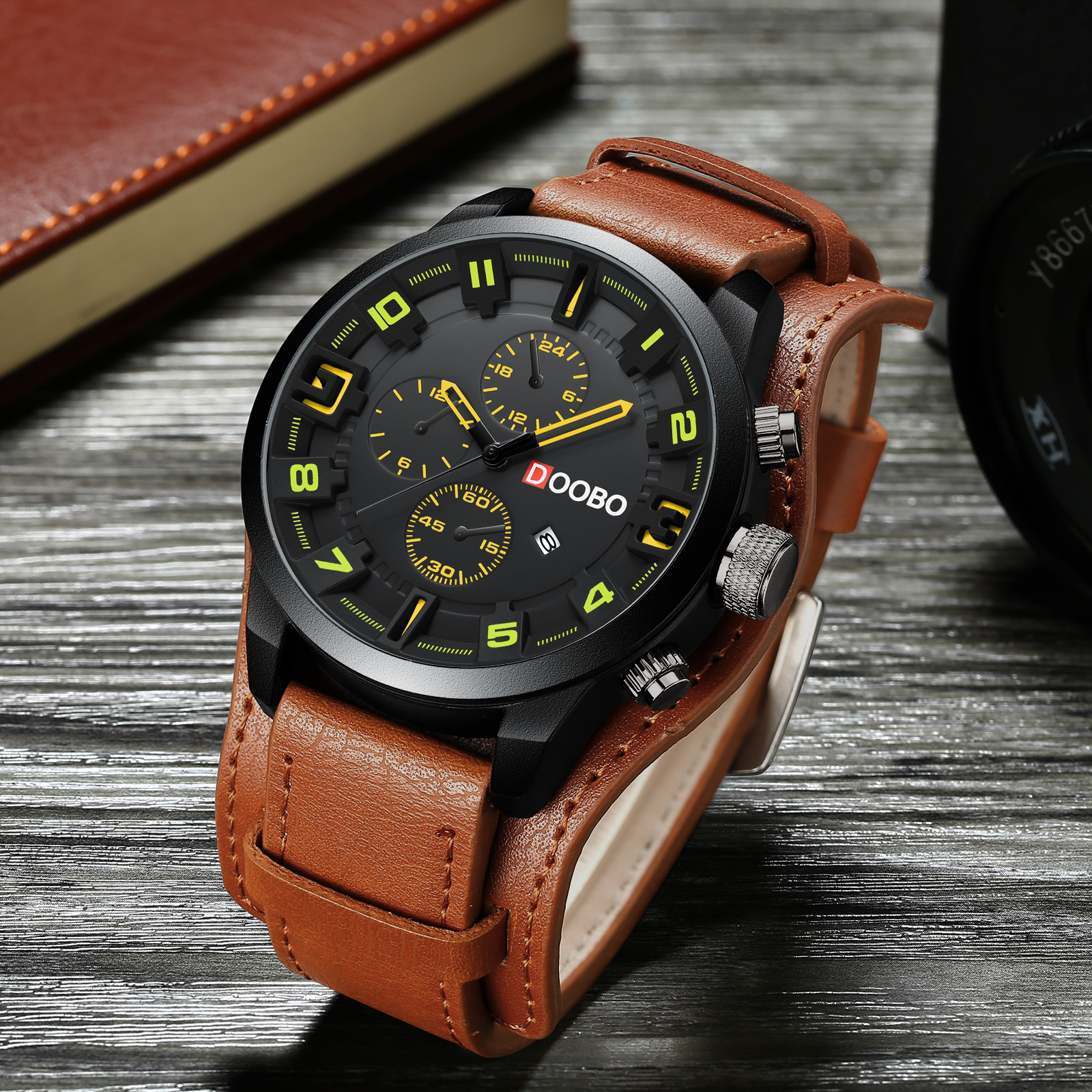 Men sport Quartz Watch men Luxury Leather Waterproof TEND fashion sports Wristwatch Relogio Masculino reloj hombre mens watch