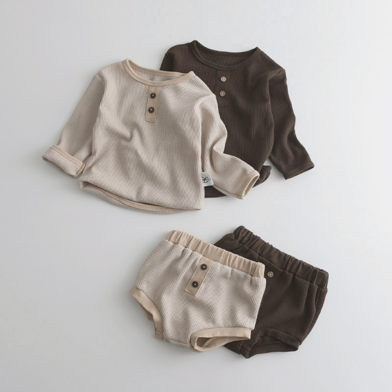 9.17US $ 32% OFF Melario Newborn Infant Clothes Set Solid Baby Girl Clothes Long Sleeve Tops Shorts ...