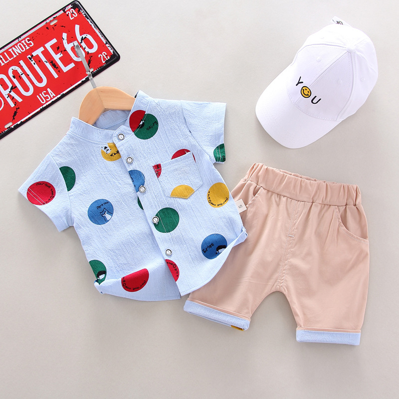 Newborn Clothes 2020 Summer Baby Boys Clothes Print T-shirt+Short 2pcs Outfits Kids Sport Suit For Baby Infant Clothing 12 Month