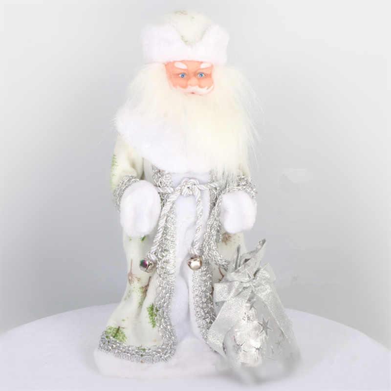 16 polegada russo musical papai noel boneca 40cm neve maiden boneca falando brinquedos led decorações brinquedos de natal ded moroz newyear presente
