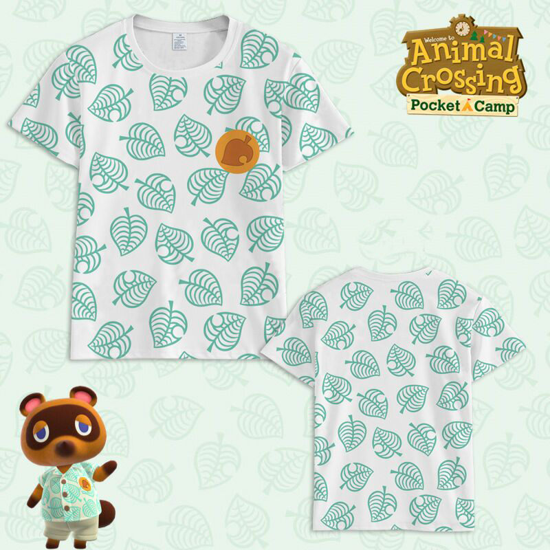 2020 Animal Crossing Costume T-Shirt Tom Nook Cosplay 3D Print T Shirt Men's Summer Short Sleeve Tees Tops Clothes Adult Kids