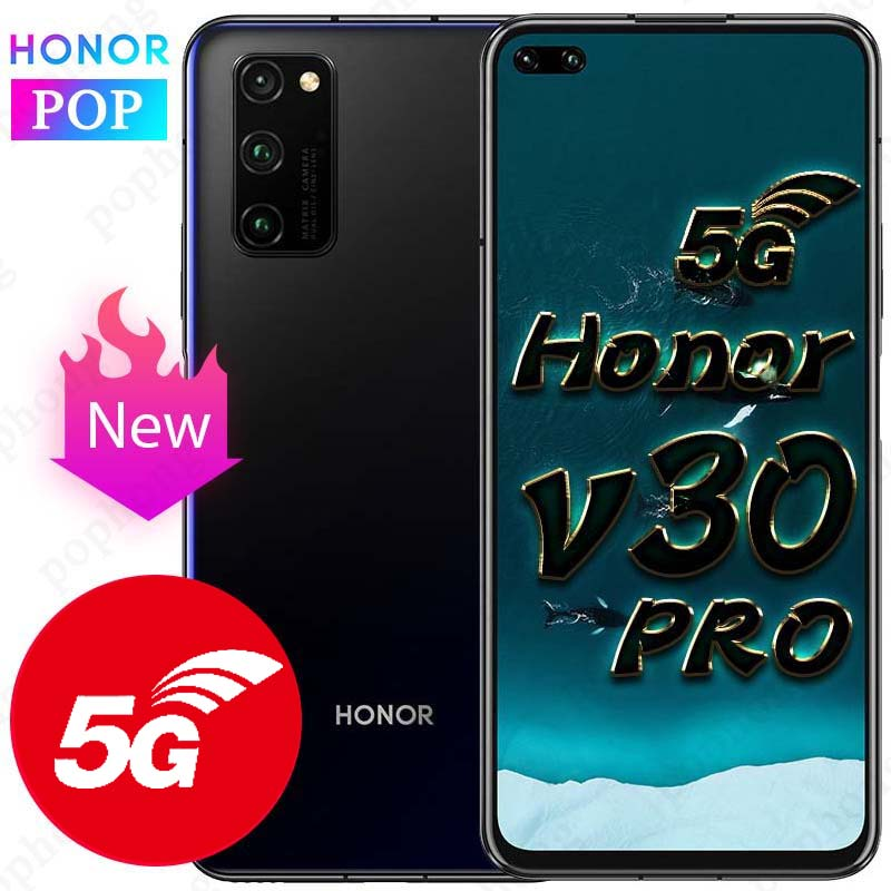 HONOR View 30 Pro Honor V30 Pro 5G téléphone portable 6.57 pouces Kirin 990 5G Octa Core Android 10 SA/NSA SuperCharge
