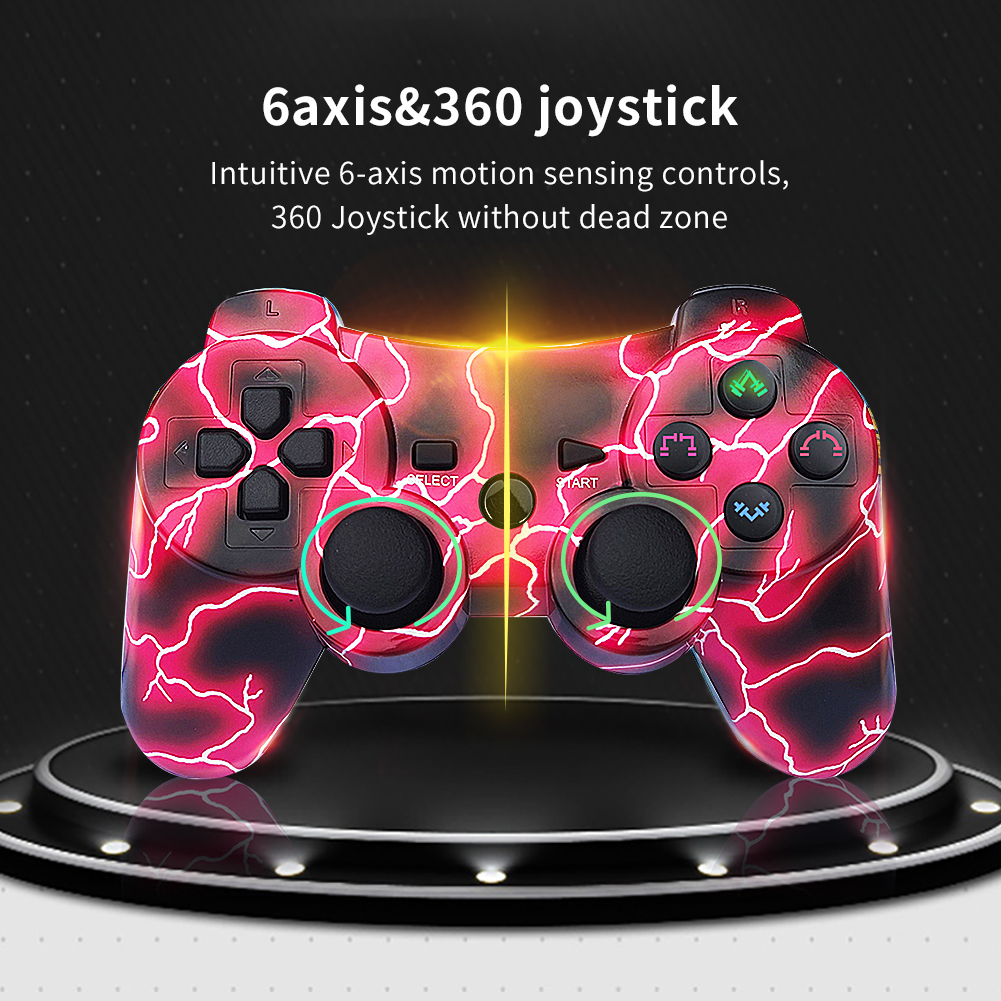 PS3 Controller Wireless Double Shock PS3 Remote Sixaxis Control Gamepad for Playstation 3