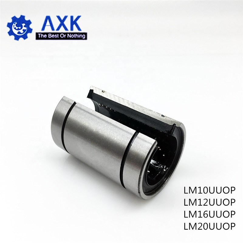 Hot sale 1pc LM12UUOP LM10UUOP LM16UUOP LM20UUOP 12mm Linear bearings Open Type CNC Linear Bushing for 3D printer parts shafts
