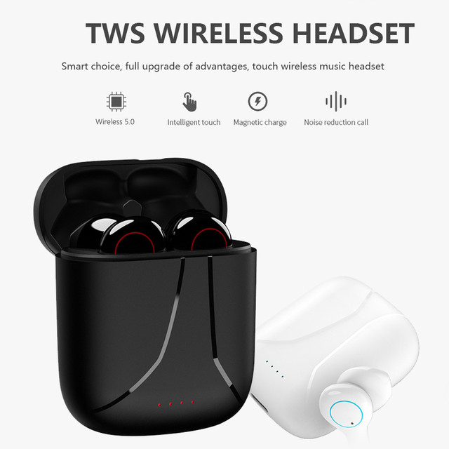New TWS Bluetooth earphone Earpieces business headset sports earbuds suitable wireless earphones  For xiaomi huawei iphone