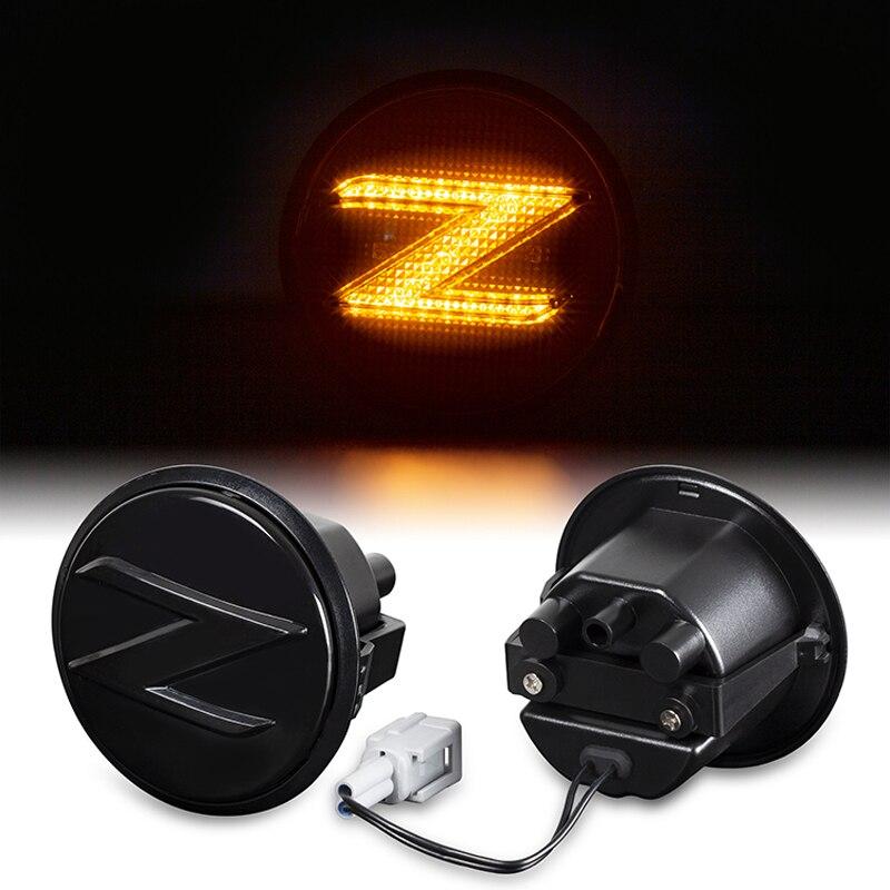 2 pçs dinâmico âmbar lado marcador sinal de volta sequencial blinker carro leds luzes para nissan 370z 2009 2010 2011 2012 2013 2014 2015