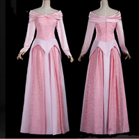 Sleeping Beauty Princess Aurora cosplay costume new style Aurora dress pink adult Halloween costumes for women