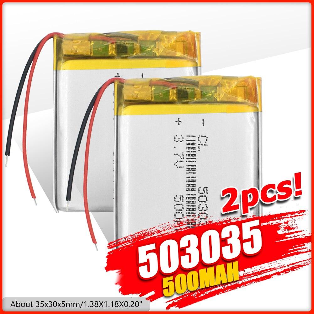 1/2/4 шт. 503035 3,7 v 500mah литий-полимерная батарея 3 7 Вольт ли бо ионным lipo аккумуляторные батареи для dvd gps навигации