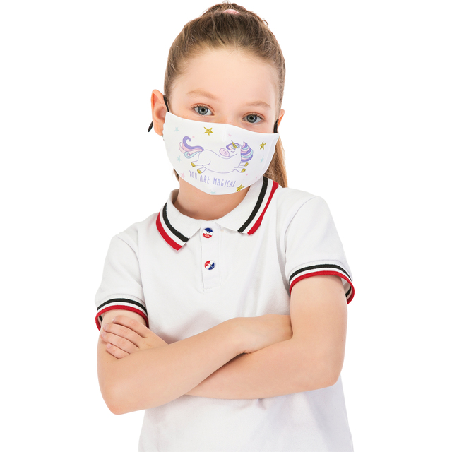 Zohra Reusable Children Mask Protective PM2.5 Filter mouth Mask anti dust Face mask bacteria proof Flu Mask Cute Kids Mask 1