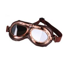 Vintage Motorcycle Goggles Motocross Pilot Cruiser Glasses Motorbike Racing Bicycle Fashion Oversize Glasses Eyewear 10pcs motorcycle cruiser goggles dirt bikes racing glasses eyewear retro aviator pilot glasses helmet driving goggles