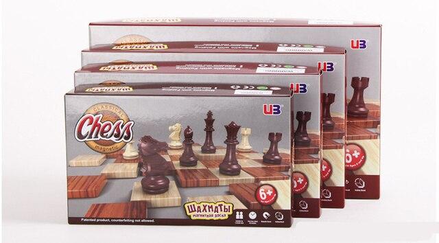 Ensemble de tournoi magnétique, tableau magnétique, 4 tailles, échecs portables internationaux pliants, cadeau de voyage 6