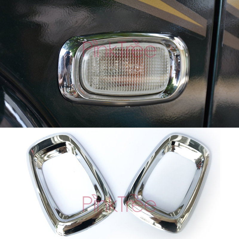 For <font><b>Land</b></font> <font><b>Cruiser</b></font> <font><b>100</b></font> LC100 J100 For Lexus LX470 1998-2003 2004-2007 Chrome Side Lamp Cover ABS Car Styling Accessory image