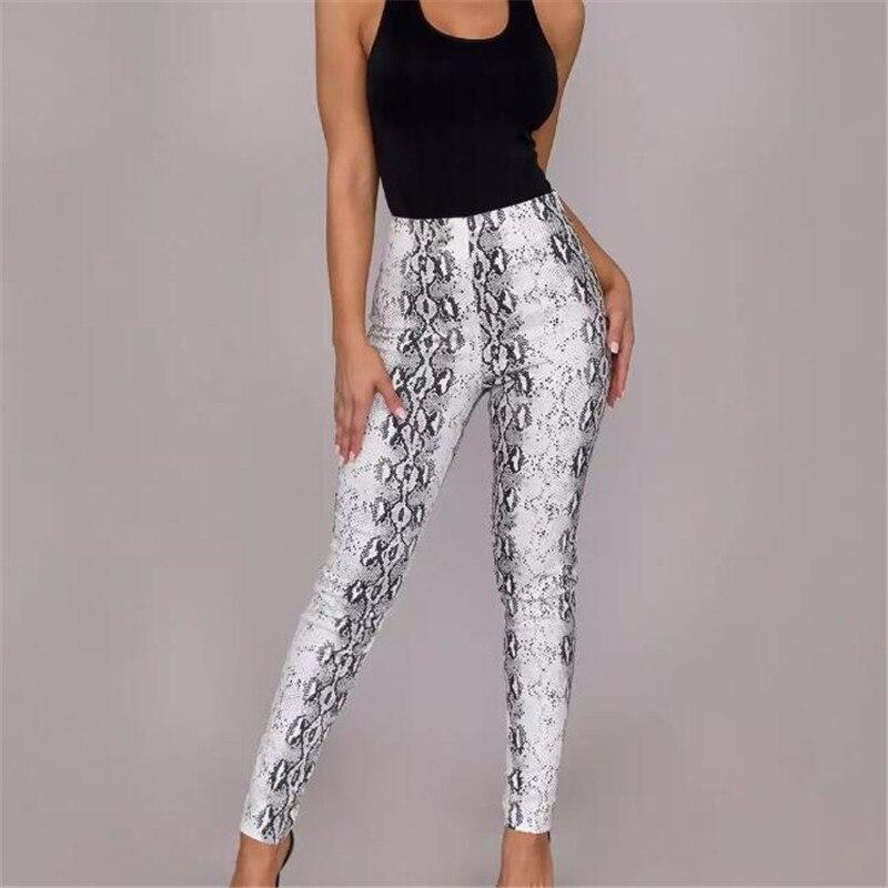 2020 Women Leggings Sexy Snake Skin Printing Leggings Autumn Spring Summer Polyester Push Up Keep Pants Fashion Women Leggings