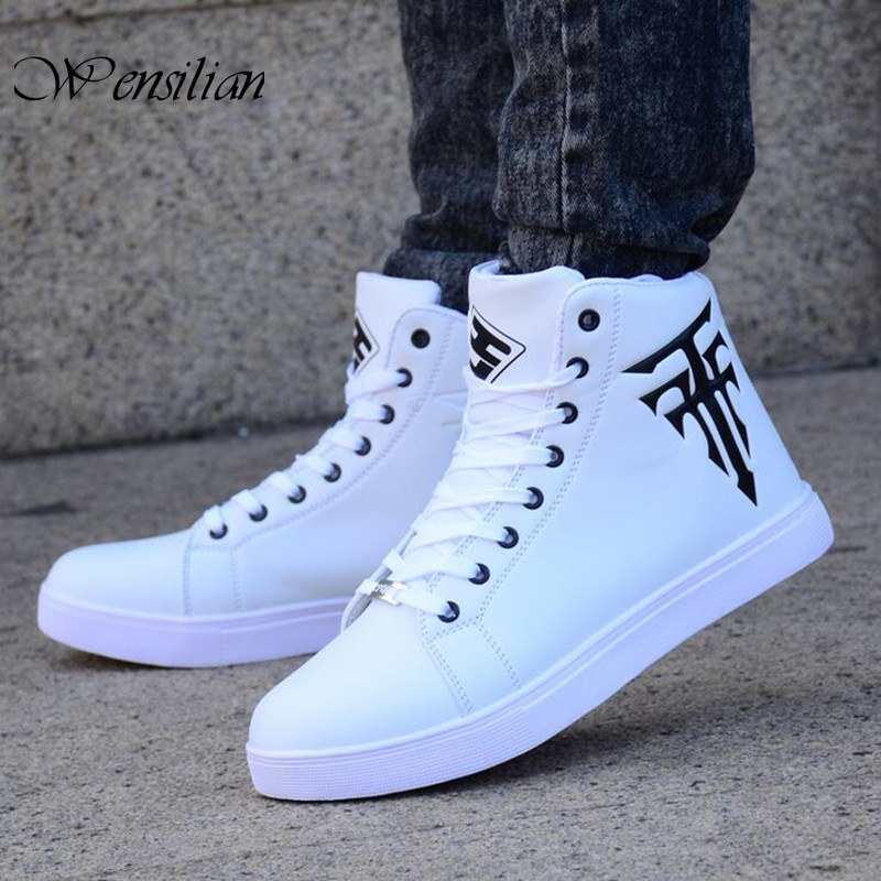 New Men/'s High Top Ankle Boots Lace Up Comfy Light Sneakers Hip Hop Shoes Hot YH