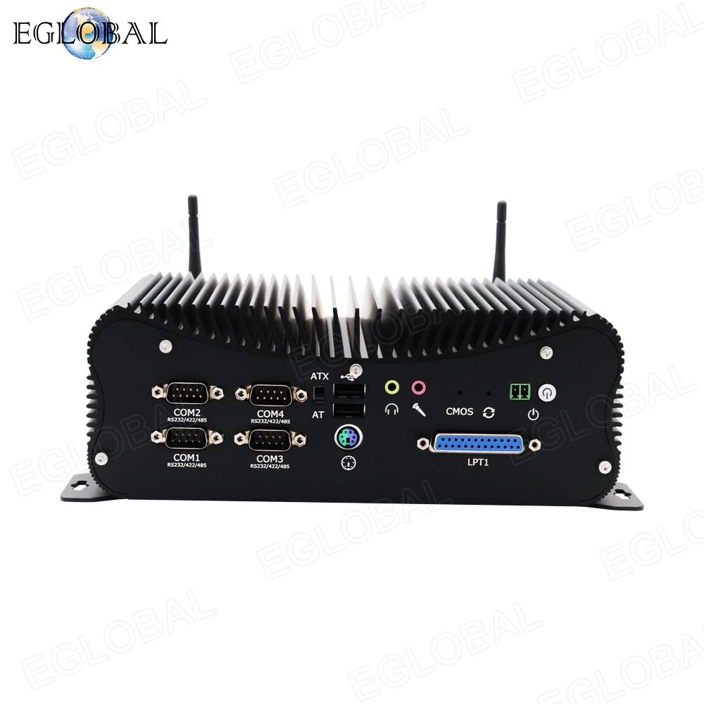 2020 EGLOBAL New Industrial Fanless Computer Intel Core I8 8250U I7 6567U DDR4 Best Mini Pc With 6COM Ports GPIO LPT 2*RJ45 Lan