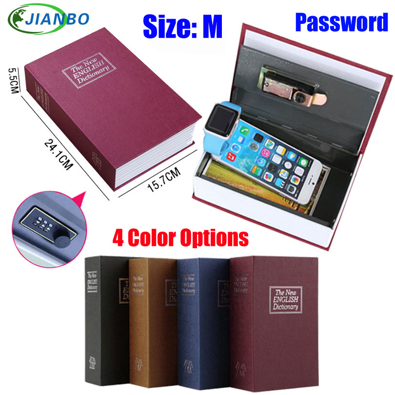 Dictionary Safe Box Secret Book Money Hidden Security Safe Lock Cash Money Coin Storage Jewellery Password Locker For Kid Gift