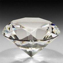 1 шт. 60 мм/2,36 дюйма Прозрачный Кристалл Алмазная огранка форма пресс-папье стекло драгоценный камень домашний дисплей