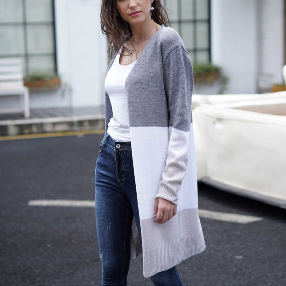 2019 ファッションカーディガンニットセーター女性秋薄型ニットカーディガンのセーターの綿のストリートコート女性プラスサイズ 2XL