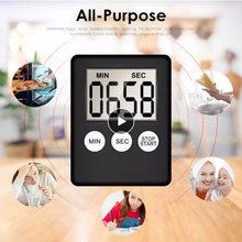 Cozinha temporizador super fino lcd tela digital cozinhar contagem-para baixo relógio magnético barra de alarme acessórios dormir esporte ferramenta de trabalho