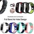 Мягкие силиконовые двухцветные часы ремешок Браслет Замена для Huawei 3e/Huawei Honor 4 бег/Huawei AW70 Смарт-часы