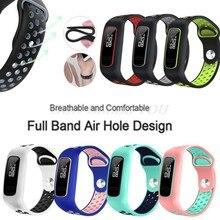 Silicone macio dois-cor relógio banda pulseira pulseira de pulso substituição para huawei 3e/huawei honor 4 running/huawei aw70 relógio inteligente