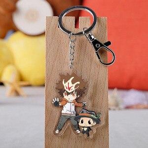 Anime Hitman Reborn Keychain Cartoon Figure Tsunayoshi Hibari Kyoya Hayato Acrylic Pendant Keyring(China)