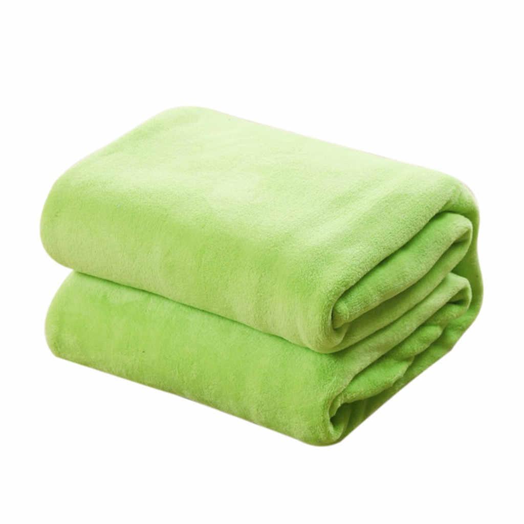 20 #1 قطعة 50x70 سنتيمتر الفانيلا بطانية الصلبة لينة غرفة المعيشة غرفة نوم تكييف الهواء السرير البطانيات ل أريكة الفراش النوم بطانية