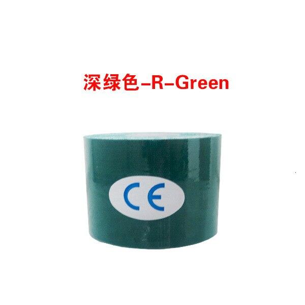 Кинезиологическая лента Атлетическая эластопласт спортивная водонепроницаемая лента медицинская терапия самоклеющаяся повязка на колено Защитная муфта для мышц L2147SPA - Цвет: Зеленый
