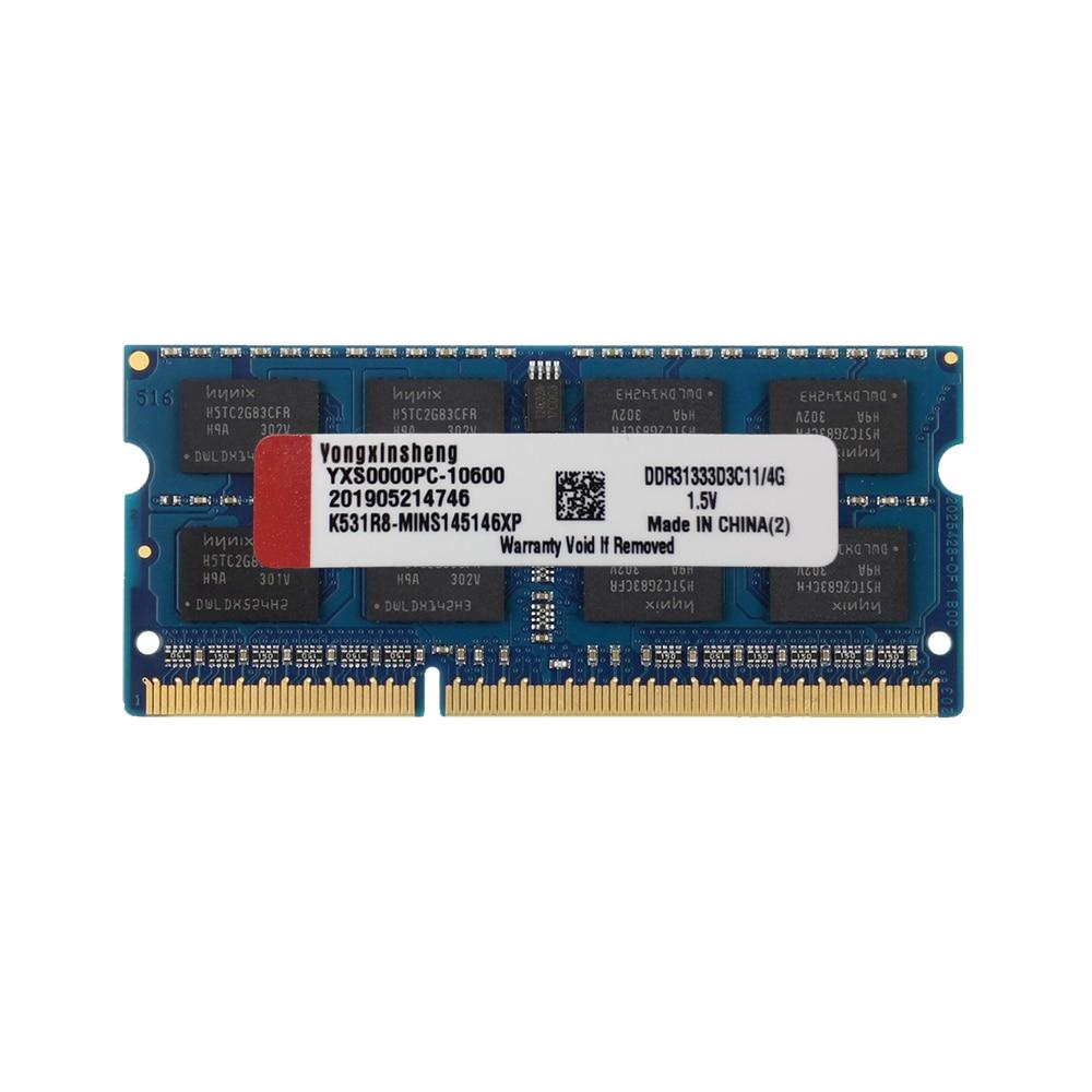 Mavi Yongxinsheng 2GB 4GB 8GB DDR3 RAM 8500 1333 1600 1866S PC3 1066-1333-12800-14900MHz olmayan ECC 1.5V CL11 204 Pin SODIMM