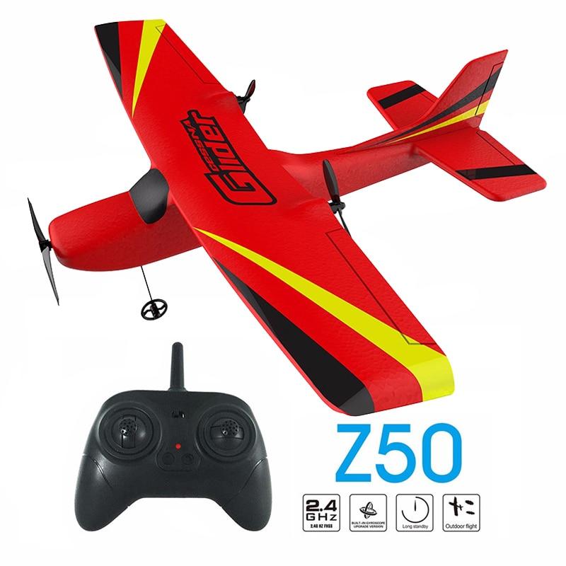 Z50 RC avion EPP mousse planeur avion gyroscope 2.4G 2CH RTF télécommande envergure avion drôle garçons avions jouets intéressants avion rc