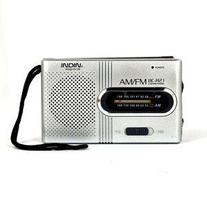 Image 1 - BC R21 Mini Portable Radio AM FM Radio Adjustable Telescopic Antenna Pocket Radios Built in Speakers 3.5mm Headphone Jack