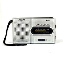 BC R21 mini rádio portátil am rádio fm antena telescópica ajustável bolso rádios built in alto falantes 3.5mm fone de ouvido jack