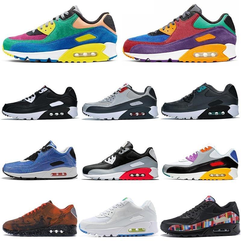 Running Shoes Air Men Women Be True Viotech Jelly 90 Laser Fuchsia Mixtape Landing Infrared 87 Trainers Sport Sneaker Max 45