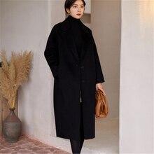 Winter Women Wolen Coat Soft Natural High Quality Sheep Shearing women's Wool Co
