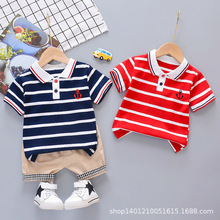 цена на Boys clothing sets summer children fashion wedding tops+shorts 2pcs tracksuits for baby boys kids cotton clothes suits outfits