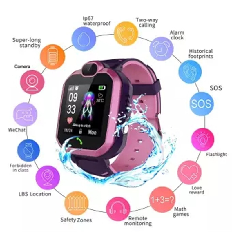 New HOT Sale LBS Location of New Waterproof Tracker Anti collision Monitor Telephone Watch for Children in Smart Watches from Consumer Electronics