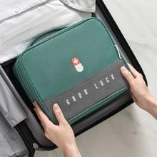 Engrossado em camadas caixa de medicina grande-capacidade casa portátil à prova dwaterproof água tecido medicina gabinete caixa de armazenamento kit de primeiros socorros