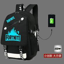 School-Backpack Teenager Fortnite Usb-Charge Anti-Theft Children's No Boy Laptop Luminous