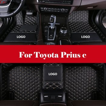 Auto Interior Decoration Car Protector Rugs Car Styling LHD car accessories car Floor Mats For Toyota Prius c image
