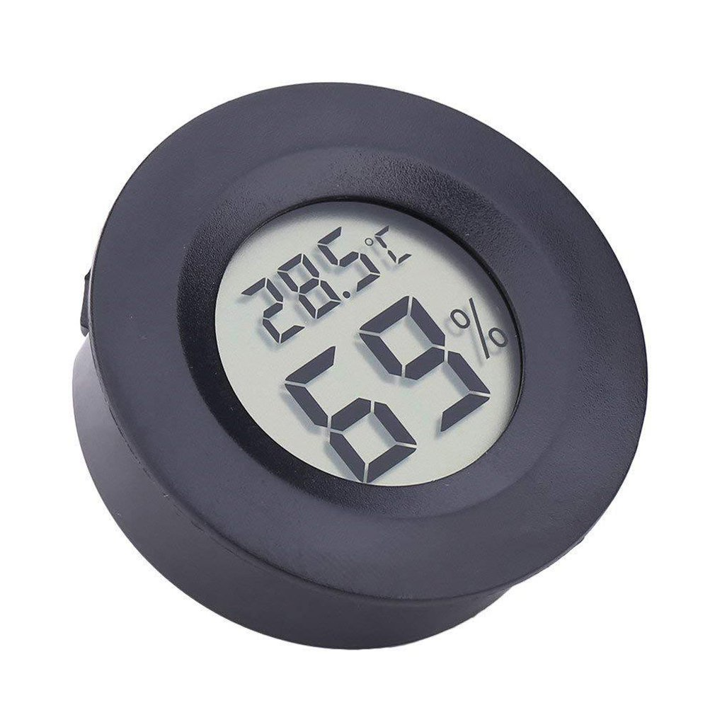 Round Electronic Thermometer and Hygrometer Indoor Digital LCD Hygrometer Temperature Humidity Meter C & F