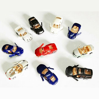 1/87 Scale 4D Plastic Assemble Car Scale Modern Cars Collection Puzzle Assembling Toys for Children 16 Kinds To Choose image