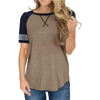 Raglan Sleeve Top Women Short Sleeve T-shirt 2020 New Solid Tops Tee Casual Female T Shirt O-neck Streetwear Lady Top tshirt