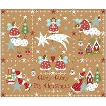 Very beautiful christmas patterns counted cross stitch 11ct