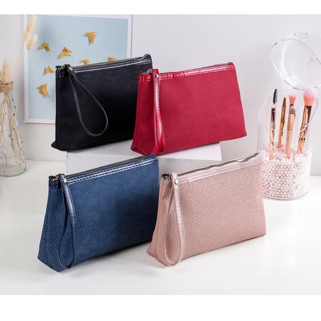 Portable  Cosmetic Bag Women Pouch Fashion Lady Makeup 2020 New Travel Organizer Bag Travel Makeup  PU Leather Makeup Bag