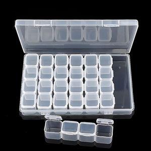 CN пластиковый ящик для хранения, подходящий для хранения сережек, ожерелий, алмазных бусин, домашний удобный ящик для хранения