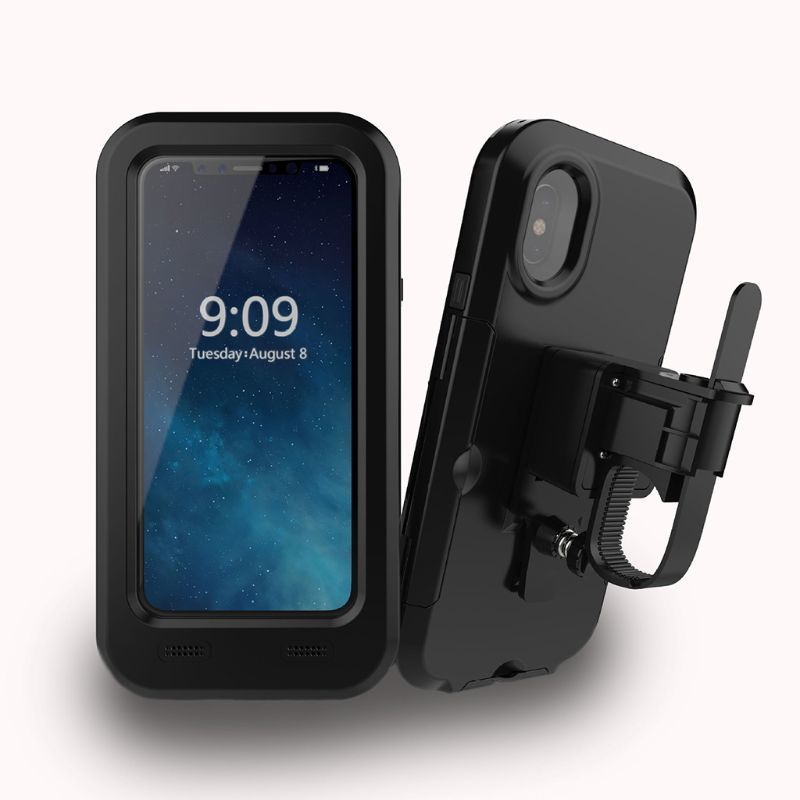 360 Degree Motorcycle Bicycle Holder Bag Waterproof <font><b>Case</b></font> Mobile Phone Support Bike Handlebar Holder <font><b>For</b></font> <font><b>Iphone</b></font> X <font><b>8</b></font> 7 6 Plus image